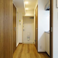 1K/一人暮らし/リフォーム/廊下/水回り 1Kタイプの部屋。水回りの必要な設備はす…