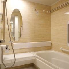 バスルーム/浴槽/ベンチ付きの浴室 座ってシャワーのできるベンチ付きのバスル…