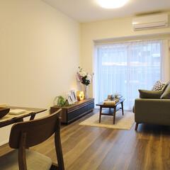 リビング/ウォールナット/フローリング シンプルでおしゃれな家具にもぴったりのウ…