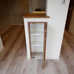 キッチン/カウンター/収納 キッチンカウンターの下にも収納スペースを…