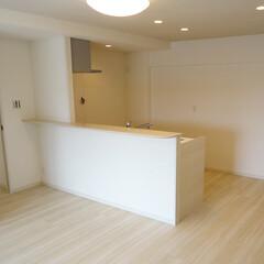 キッチン/対面式キッチン/キッチンリフォーム 壁付けキッチンを対面式にしました。