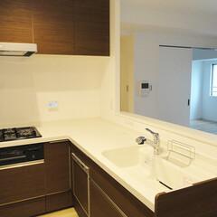 キッチン/L型キッチン/対面キッチン 和室をなくしてL型の対面キッチンに。