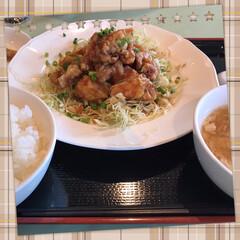 ランチ お友達とランチ💕 中華 油淋鶏!
