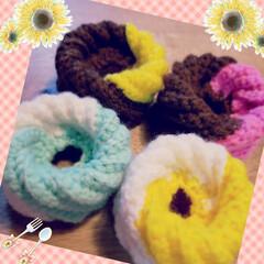 かぎ針編み/エコたわし/ハンドメイド ドーナツのエコたわし❗