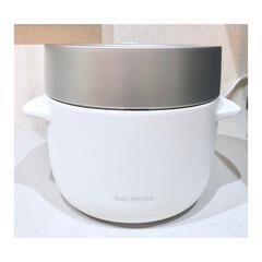 炊飯器 バルミューダ ザ・ゴハン BALMUDA The Gohan 3合炊き | BALMUDA The Gohan(炊飯器)を使ったクチコミ「シンプルな見た目と機能で、キッチンの風景…」