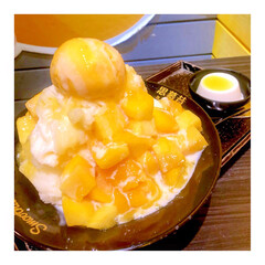 マンゴーかき氷 台湾で有名なお店にていただく マンゴーか…