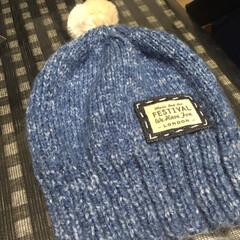 帽子/手編み/ニット帽/手芸/100均/ダイソー/... ニットの季節到来! 編み物中毒発病中、暇…