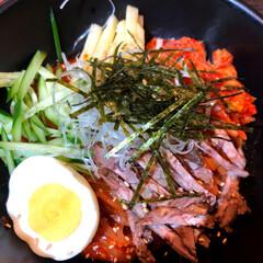 キッコーマン 具麺 韓国ビビン麺風(その他調味料、料理の素、油)を使ったクチコミ「ビビン麺🍜  この前ついに、ひとり焼肉屋…」