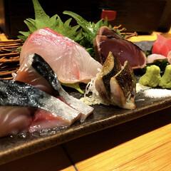 おつまみ/居酒屋/サリーちゃんは今日も飲む/LIMIAお酒大好きクラブ/お魚/マッチョ/... お刺身盛り合わせ🐟  みんな好きですよね…