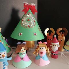 ペーパークラフト/クリスマス クリスマス仕様のペーパークラフト🎄 母親…