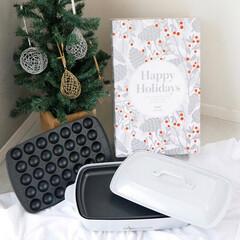 """贈り物/ギフト/限定色/ブルーノホットプレート/BRUNO/たこ焼きパーティー/... 今だけの""""Happy Holidays""""…"""