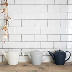 ティータイム/ティーポット/ポット/紅茶/お茶の時間/おうちカフェ/... 暮らしに馴染むティーポット  家事の合間…