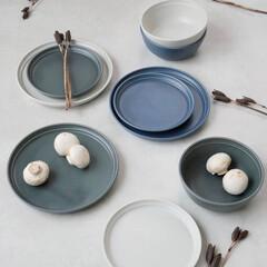 お皿/テーブルコーディネート/食卓/釉薬/食器/器/... 柔らかで温もりのある色彩が魅力の磁器  …(1枚目)