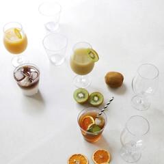 GLASS/食卓/ディナー/おうちカフェ/デザートカップ/グラス/... ガラスのような輝きの割れない樹脂製グラス…