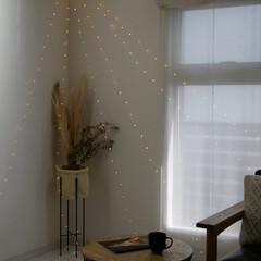 ガーランドライト/お洒落空間/間接照明/照明/ライト/フロアライト/... 寒い冬を温かく灯す . 柔らかく流れるよ…