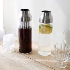 KINTO/キントー/耐熱ガラス/ティータイム/コーヒー/ドリンクボトル/... スマートでスムーズなウォーターカラフェ …