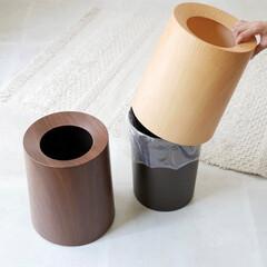 ごみ箱/リビングインテリア/木目/tubelor/ダストボックス/ゴミ箱/... 佇まいの美しい魅せるゴミ箱  ゴミ袋を隠…