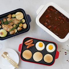 ブルーノ/お鍋/コンパクトホットプレート/ホットプレート/ホットプレート料理/調理家電/... 食卓を彩るBRUNOコンパクトホットプレ…