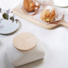 陶器/天然木/ideaco/ウェットティッシュケース/食卓/雑貨/... 可愛く佇む、ウェットティッシュケース  …