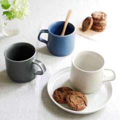 リラックスタイム/ティータイム/コーヒーカップ/カップ/磁器/マグカップ/... 質感や風合いの美しいマグカップ  朝の一…