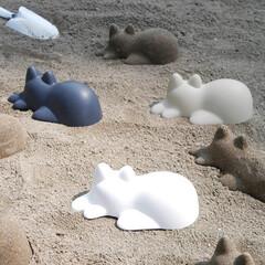 ネコカップ/猫派/猫すき/子供と暮らす/砂場セット/砂場遊び/... 無限ねこ製造機  砂場や砂浜にねこのシル…