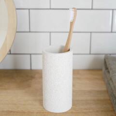 珪藻土/洗面所/サニタリー/歯ブラシ/歯ブラシスタンド/暮らしを整える/... 自然の恵みを凝縮させた珪藻土の歯ブラシ立…