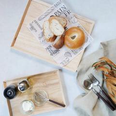 テーブルコーディネート/食卓/キッチン/天然木/トレイ/暮らしを整える 毎日使いたくなるウッドトレイ  朝食やラ…