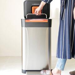 キッチン/クラッシュボックス/JosephJoseph/ゴミ捨て/ダストボックス/ゴミ箱/... ワンプッシュでゴミを1/3に圧縮  ごみ…