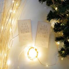 ディスプレイ/イルミネーション/クリスマス飾り/クリスマスバージョン/灯り/LEDライト/... 小さな粒が宝石のように輝くLEDストリン…