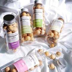 フレグランス/香り/ディフューザー/アロマ/サシェ 優しく香るウッドボール  天然素材のパイ…