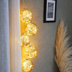 クリスマスバージョン/イルミネーション/クリスマス飾り/LEDライト/間接照明/照明/... \イルミネーションボールライトで一味違う…