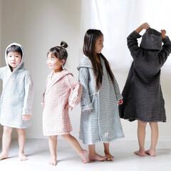 オーガニックコットン/タオル/キッズ/キッズコーデ/子供のいる暮らし/暮らしを整える/... 大人顔負けのバスローブ  オーガニックコ…