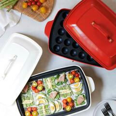 ブルーノホットプレート/ホームパーティー/料理/調理器具/調理家電/キッチン雑貨/... ルックスも調理も本格派のホットプレート …(1枚目)