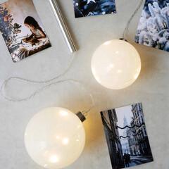 Xmas/クリスマスオブジェ/LEDライト/クリスマスディスプレイ/クリスマス飾り/Light/... ガラスのボールで幻想的な光の演出を  特…