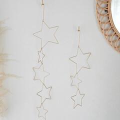 クリスマス飾り/壁面装飾/壁面飾り/ワイヤー/ガーランド/オブジェ/... クリスマスシーンにぴったり!星の形を模っ…