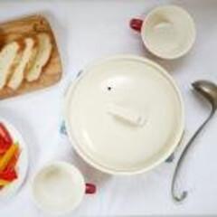 お鍋/萬古焼土鍋/萬古焼/土鍋/マイホーム &NE 萬古焼 IH対応 シンプル土鍋 …