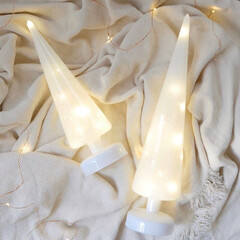 Xmas/クリスマスオブジェ/クリスマスディスプレイ/ツリー/クリスマスツリー/間接照明/... 柔らかい光でナチュラルなクリスマスを  …
