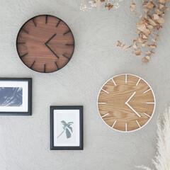 天然木/ウォールクロック/掛け時計/時計/日用品/Hinatalife/... お洒落にそっと時を刻む  シャープなスチ…