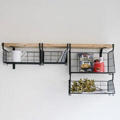 ハンギング/吊るす収納/収納/見せる収納/キッチン/ハンギングバスケット おしゃれで機能的なハンギングバスケット …