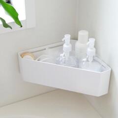 バスタイム/おもちゃ収納/収納/ラック/お風呂/バスルーム/... お風呂場のコーナーにぴったりフィットする…