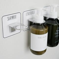 マジックシートフック/ソープホルダー/ボトルホルダー/浴室・風呂/雑貨/インテリア雑貨/... 水回りをもっとお洒落で清潔に  シャンプ…