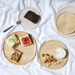 アカシア/食卓/ウッドプレート/プレートごはん/プレートランチ/日用品/... シンプルだから使いやすい、ウッドプレート…