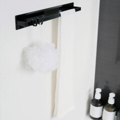 整理整頓/収納/マグネット/タオルハンガー/バスルーム/暮らしを整える/... バスルームの壁面に簡単に取り付けできるマ…(1枚目)