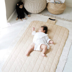 ベビーグッズ/お昼寝マット/お昼寝布団/お昼寝/赤ちゃんのいる暮らし/赤ちゃんグッズ/... 快適なお昼寝スペースを  どこでもサッと…