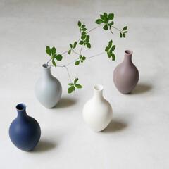 一輪/一輪挿しの花瓶/一輪挿し/花瓶/フラワーベース/枝物/... 素朴で愛らしい一輪挿し  マットで柔らか…