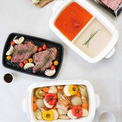 ブルーノ/ブルーノホットプレート/蒸し/グリル野菜/グリル/仕切り鍋/... オプションパーツで愉しむホットプレートメ…(1枚目)