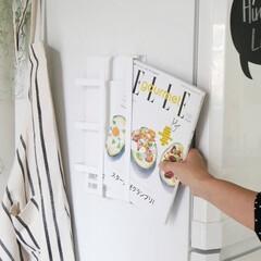 tower/家事/台所/キッチン雑貨/キッチン/雑貨/... 冷蔵庫の側面にピタっと貼るだけでおしゃれ…