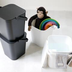 収納ボックス/おもちゃ収納/収納/バケツ シンプルでお洒落な蓋付きバケツ  バケツ…(1枚目)