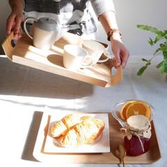 トレイ/キッチン雑貨/食卓/おぼん/おぼんdeごはん/暮らしを整える/... 天然木のナチュラルさと使いやすさにこだわ…