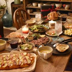 手作りパン/クリスマスツリー/クリスマス/ダイニングテーブル/DIY/インテリア クリスマスパーティー♫ ポテトとベーコン…(1枚目)